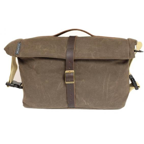 Bromtpon Roll Top Shoulder bag plátno-koža