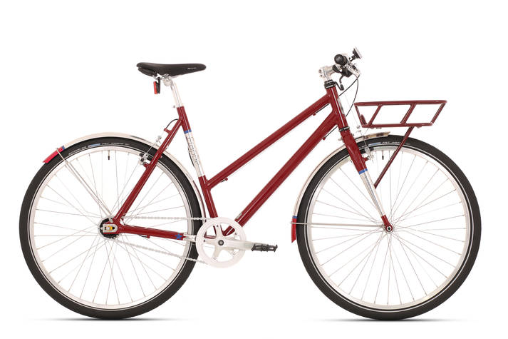 Mestský bicykel Frappe city FST 300 LADY DARK RED GLOSS